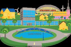 Sandviken City Icon